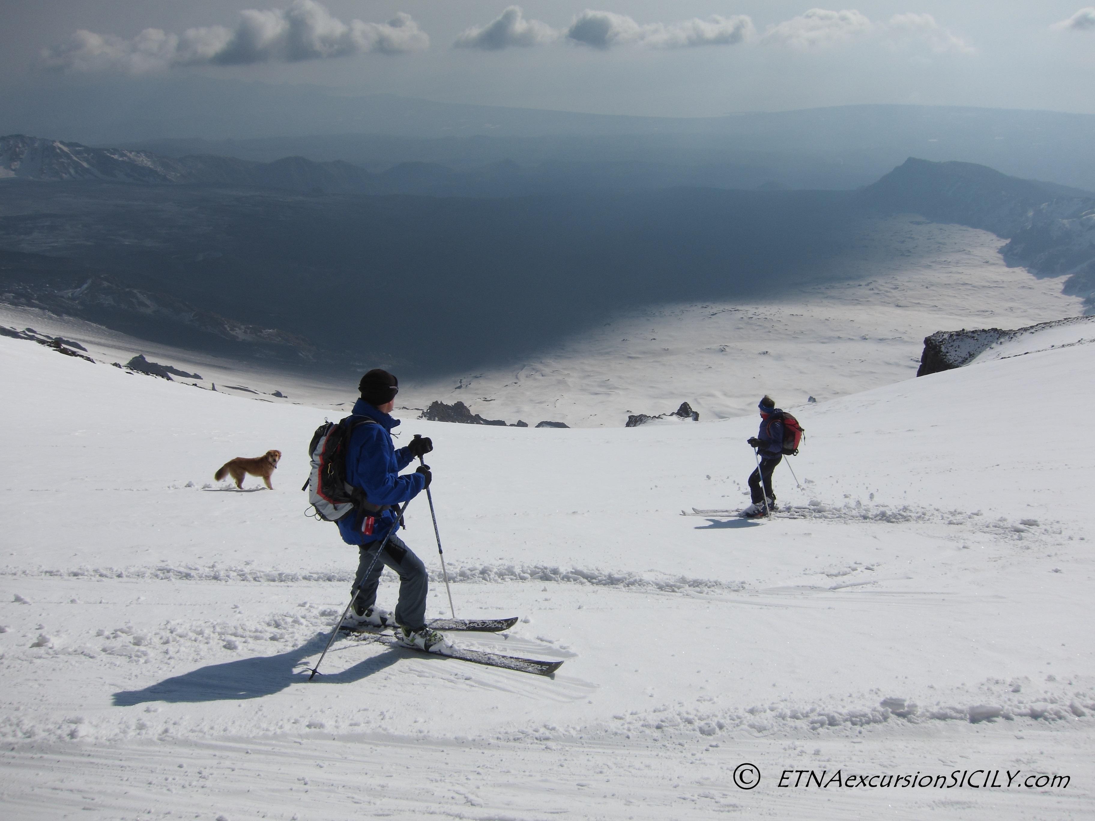 Sci alpinismo sull'Etna - Valle del Bove